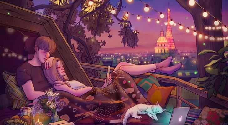 Le illustrazioni di questa artista coreana ritraggono alla perfezione la magia dell'innamoramento