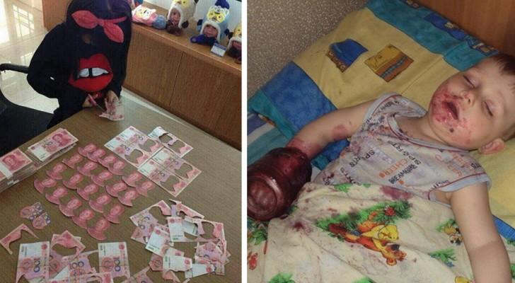 30 divertidisimas imagenes que muestran que cosa puede ocurrir cuando dejas solo un niño por un instante