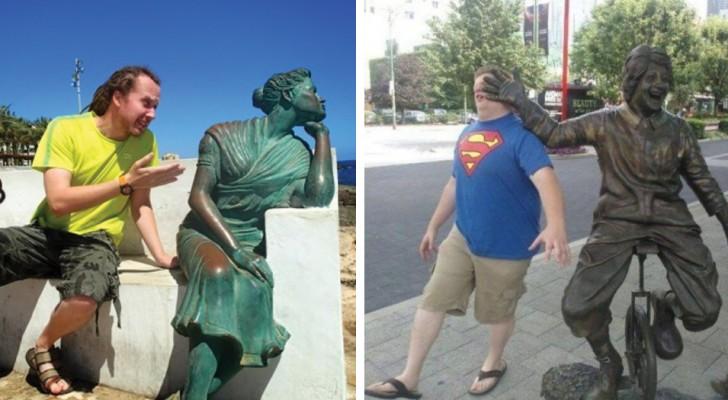 25 persone che sanno come divertirsi quando vedono una statua