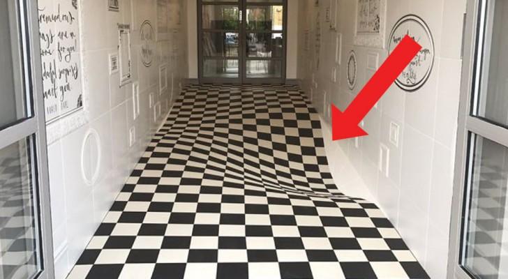 Die Besitzer dieses Ladens wollten die Kunden verlangsamen: Deshalb bauten sie einen meisterlichen Fußboden!