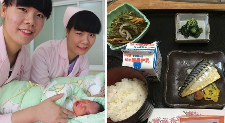 Een vrouw moet bevallen in Japan en laat zien wat ze daar in het ziekenhuis te eten krijgt