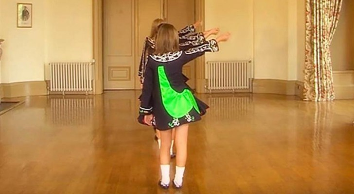Four girls in a room present their Irish dancing choreography and put on a show!