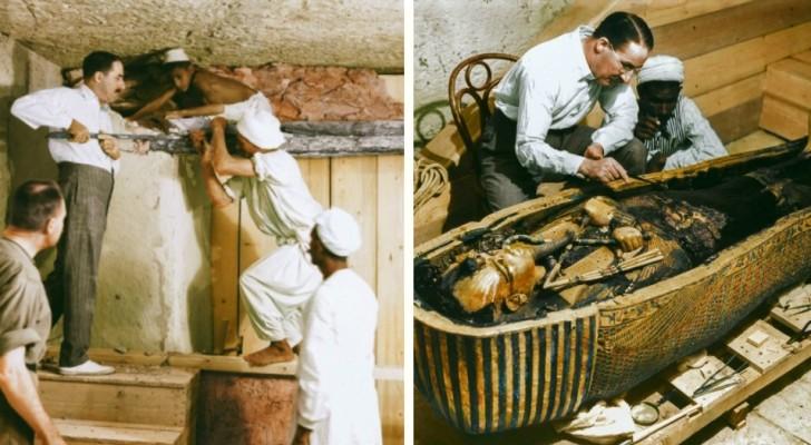 Abertura da tumba de Tutankhamon: uma empresa nos mostra como foram aqueles momentos à cores!