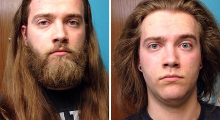 Con o sin barba: 16 imagenes de hombres que cambiaron completamente luego de rasurarse