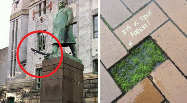 22 acts of urban vandalism that will surprise you with their genius
