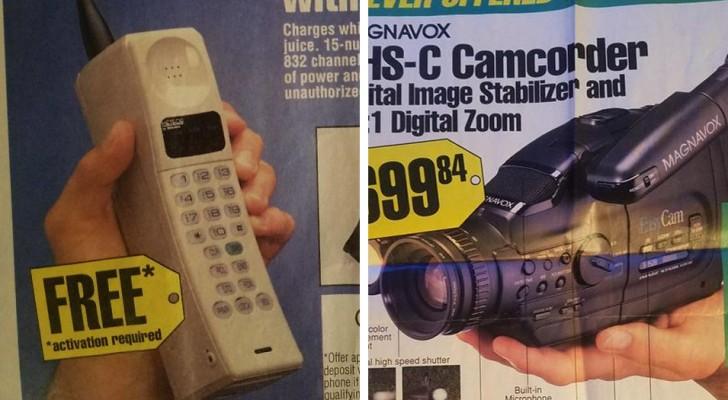 Il retrouve un tract de 1994 avec les appareils les plus technologiques du moment