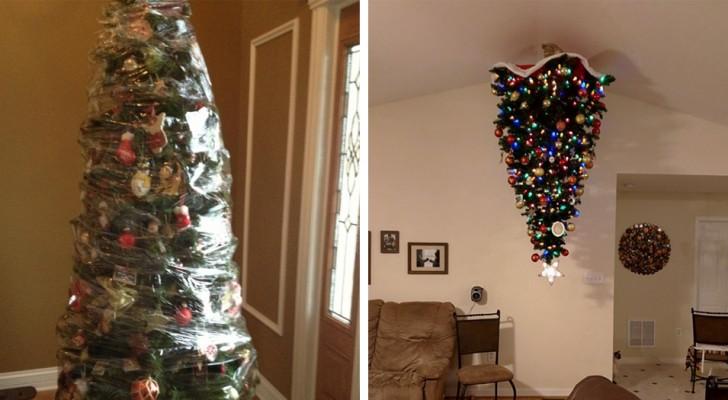 12 creatieve oplossingen die eigenaren van dieren hebben gevonden om hun kerstboom te beschermen