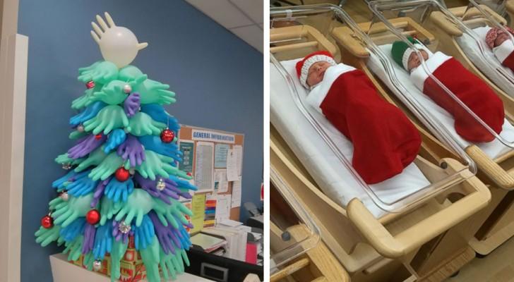 23 versieringen in het ziekenhuis die laten zien dat de medische staf het meest creatief is
