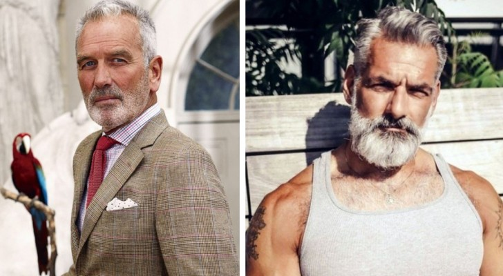 21 very handsome men who will make you fall in love with silver gray hair