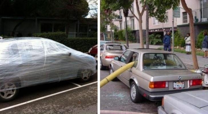 11 irrespetuosos de estacionamiento que obtuvieron lo que merecían