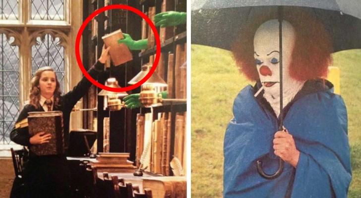 18 imagenes que revelan las curiosidades detras del escenario de los film famosisimos