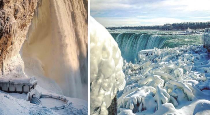 Il gelo in Nord America trasforma le cascate del Niagara in uno spettacolo di ghiaccio