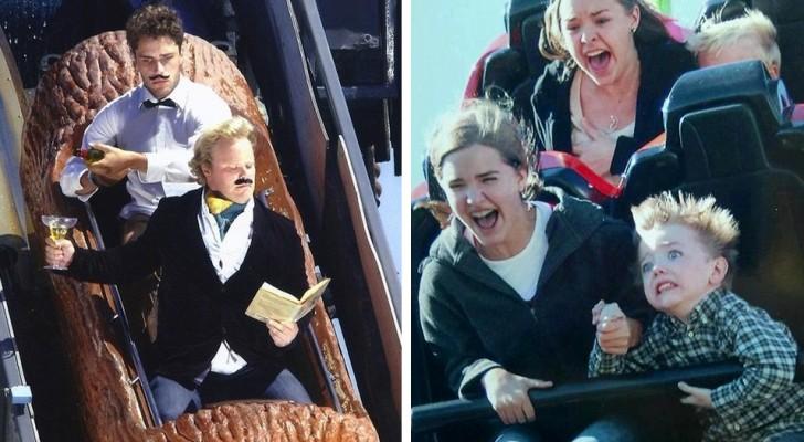 16 fotos entre as mais loucas feitas em um parque de diversão!