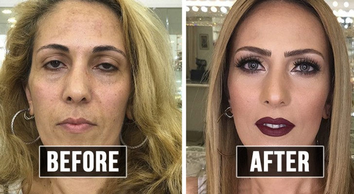 This make-up artist manages to make his customers appear 30 years younger!