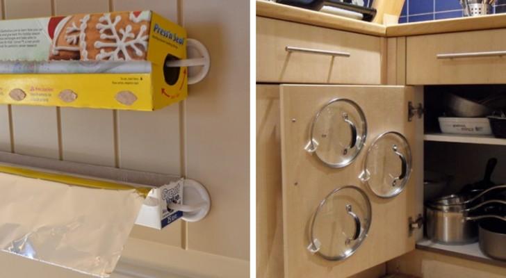 Como usar simples ganchos de plástico para organizar a casa e obter mais espaço