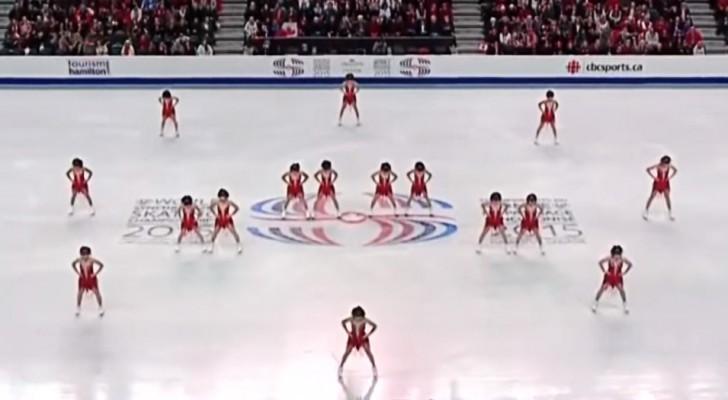 A coreografia destas 16 meninas levou o público ao delírio!