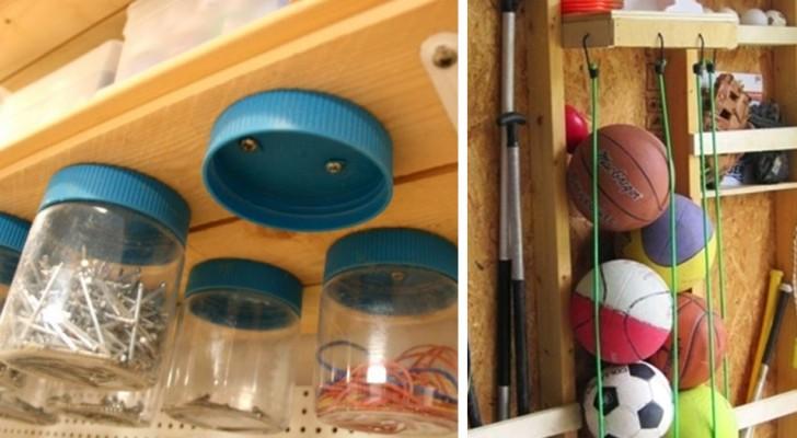 15 conselhos brilhantes para organizar o depósito ou a garagem sem gastar muito