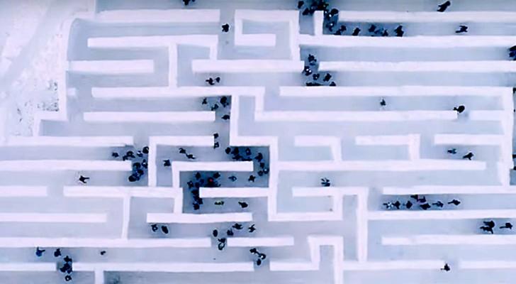 In Polonia c'è il labirinto di neve più grande del mondo ed un parco divertimenti destinato a sciogliersi