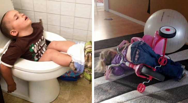 20 children who fought and lost their battle against falling asleep!