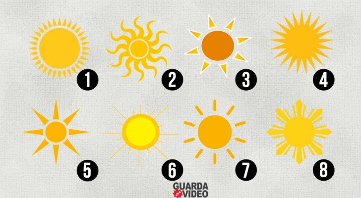 Which image of the sun appeals to you more? Here is what your choice reveals about your personality!
