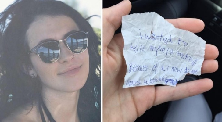 She invites a homeless man to eat with her and when he leaves she receives a note with an unexpected message!