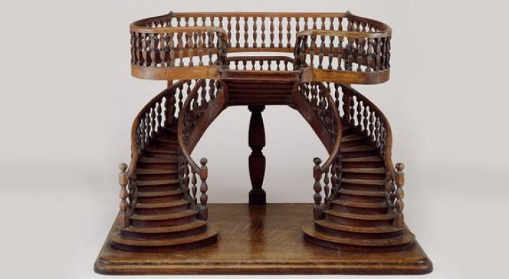 Le meravigliose e minuscole scale di legno create da un'associazione segreta di artigiani francesi