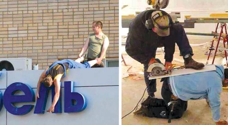16 personnes qui ont donné une interprétation tout à fait personnelle de la sécurité au travail.