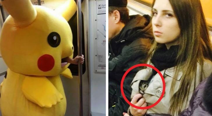 Des gens et des animaux bizarres dans le métro : 17 images étonnantes du monde entier.