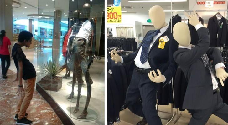 Voici quelques-uns des mannequins les plus dérangeants et amusants que vous n'aviez jamais vus dans un magasin.