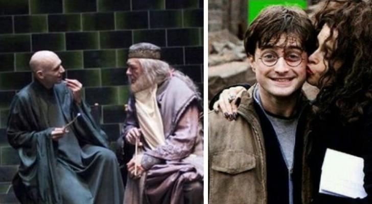 30 zeldzame foto's genomen op de set van Harry Potter waar je gewoon helemaal nostalgisch van wordt