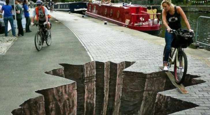 Here are the most vertiginous works of optical illusion street art that have ever been realized!