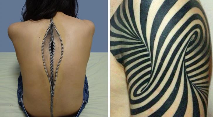 17 tatueringar som du måste titta på två gånger för att förstå att det bara är en tatuering