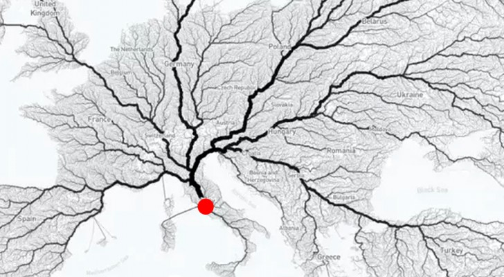 Tous les chemins mènent à Rome? Cette carte sophistiquée nous révèle si le dicton correspond à la réalité