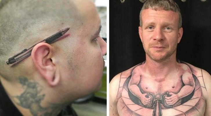 34 tatuajes y efecto 3D que parecen mucho mas de simples dibujos sobre la piel