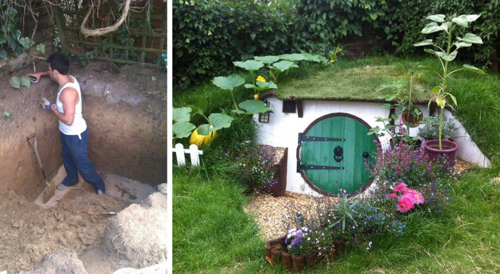 Vi piacerebbe vivere in una casa hobbit? Questo ragazzo l'ha costruita da sé... Così!