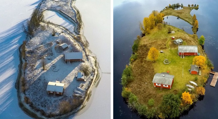 Deze fotograaf heeft hetzelfde eiland gefotografeerd in alle vier de seizoenen en het resultaat is pure poëzie