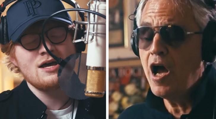 Andrea Bocelli ontvangt Ed Sheeran in zijn huis in Italië: wanneer ze het duet gaan zingen wordt het subliem