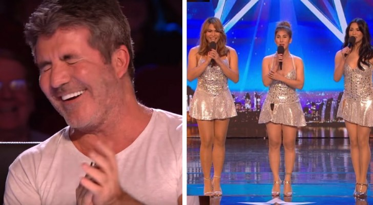 3 women come on stage and when they start to sing the judges witness an unexpected transformation