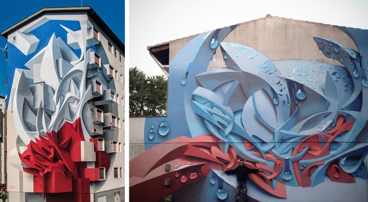 Les gigantesques peintures murales 3D de cet artiste italien ont bouleversé les façades du monde entier