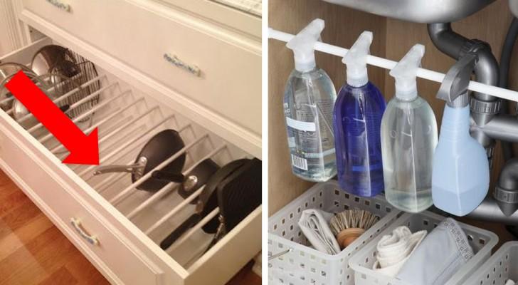 14 modos geniais de reutilizar as hastes para a cortina do box do banheiro
