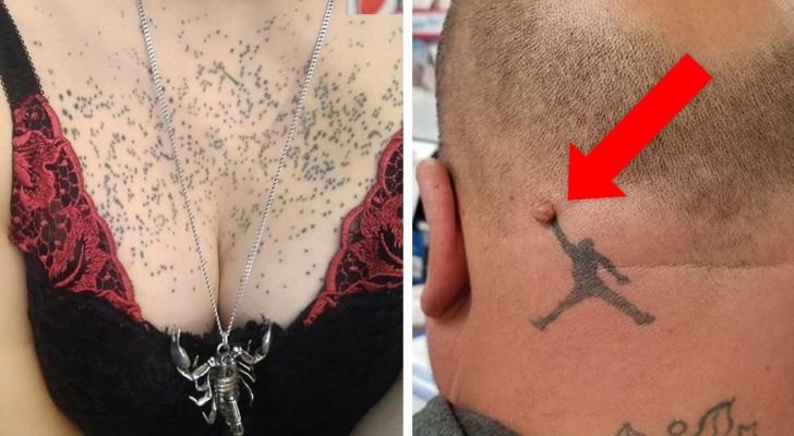 20 personnes qui sont allées se faire tatouer, mais qui auraient mieux fait de rester chez eux.