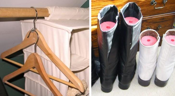 Armoires et tiroirs toujours en désordre ? Voici 18 conseils ingénieux pour organiser vos espaces