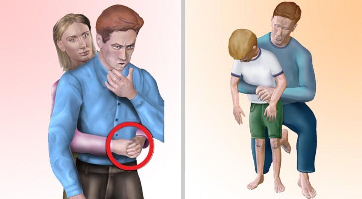 Soffocamento: ecco come intervenire a seconda che si tratti di un adulto, di un bambino o di un animale