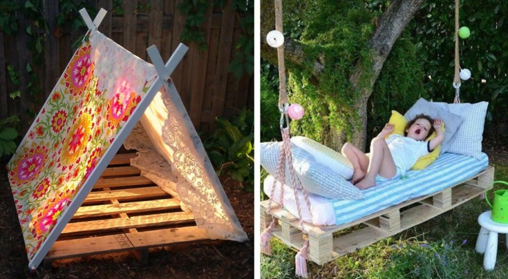 19 DIY ideas using wooden pallets that your children will love!