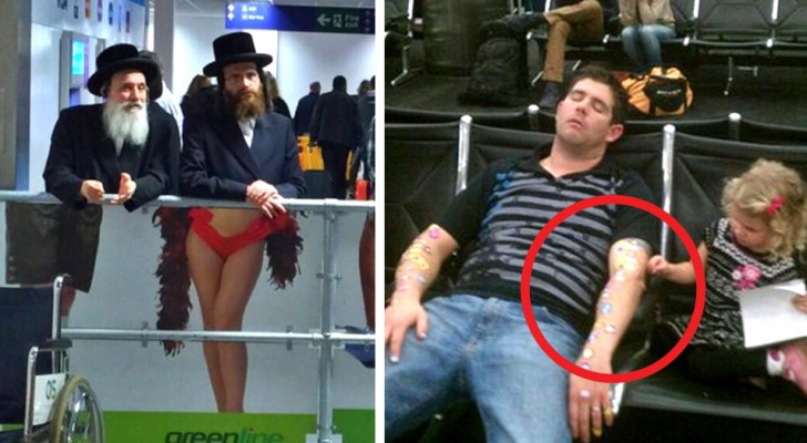 Some hilarious situations that can occur only in an airport waiting room!