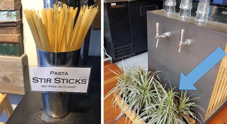 18 ristoranti che hanno escogitato soluzioni GENIALI per aiutare l'ambiente
