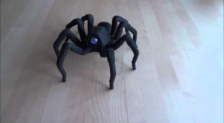 La araña robot que baila salsa y rumba.