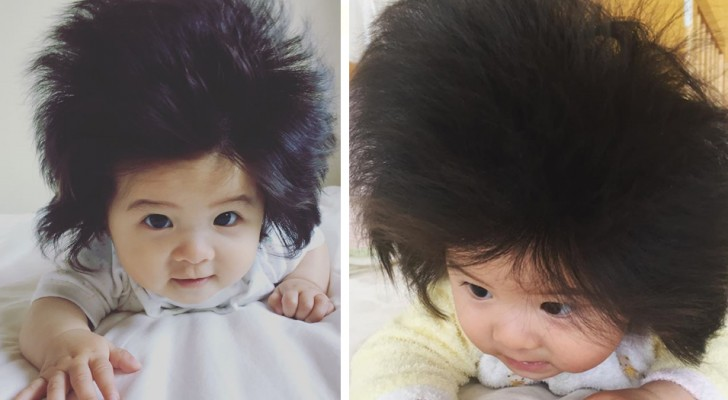 This baby girl is only 7 months old but has already gained fame due to her extraordinary hair!