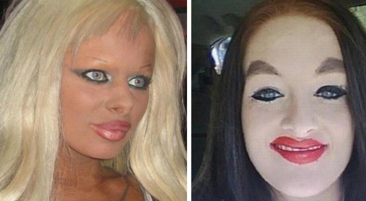 15 women who have chosen a style of makeup that is a complete disaster!