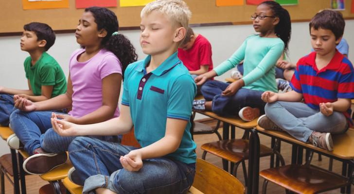 Steeds meer scholen vervangen straffen door meditatie en de behaalde resultaten zijn uitstekend